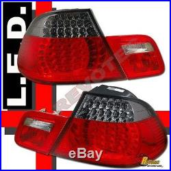 00 01 02 BMW E46 2Dr Coupe 330Ci 328Ci 325Ci 323Ci LED Tail Lights Red Smoke