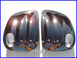 00-03 F150 FLARESIDE Smoked Tail Lights OE Black Tinted Non led Lamps CUSTOM