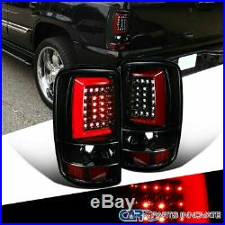 00-06 Chevy Suburban Tahoe GMC Yukon Pearl Black LED Bar Tail Brake Lights Pair