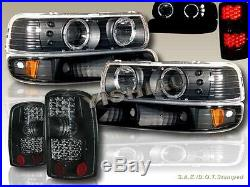 00-06 Chevy Tahoe Suburban Halo Projector Headlights + Bumper + Led Tail Lights