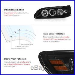 01-02 Honda Accord 4DR Sedan Black Halo Projector Headlight LED Tail Light