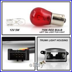 02-05 BMW E46 3-Series 4DR Tail Light Black LED STRIP Signal Brake Pair LH RH