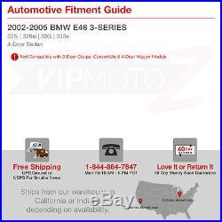 02-05 BMW E46 3-Series 4Dr Sedan LED STRIP Red Clear Tail Light Lamp Pair LH RH