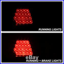 02-05 E46 3-Series 325 330 4DR Tail Light Black LED Signal Brake Lamp Pair LH+RH