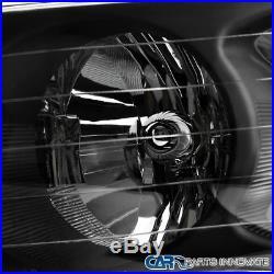 02-05 Ram 1500 2500 3500 Pickup Black Headlights+LED Tail Lights Brake Lamps