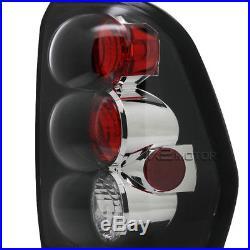 02-09 Trailblazer Black SMD LED DRL Projector Headlights+Black Tail Lamps