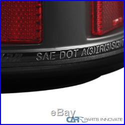 03-06 Chevy Silverado 04-06 GMC Sierra LED Black Tail Lights Rear Brake Lamps