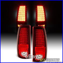 03-06 Chevy Silverado Sierra Philips-LED Perform Red Clear Tail Lights Lamp L+R