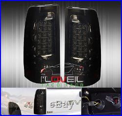 03-06 Chevy Silverado / Sierra Rear Led Brake Stop Tail Lights Lamps Smoked Lens