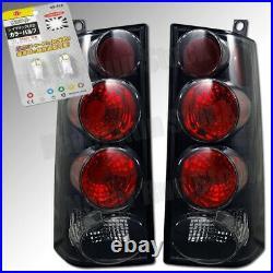 03-08 Chevy Express Van Gmc Savana Black Tail Lights + White License Plate Bulbs