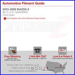 03-08 MaZda6 4DR Sedan 2.3 Turbo LED Black Tail Light Brake Lamp Left+Right Pair