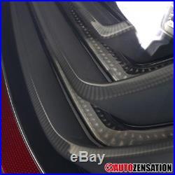 04-07 BMW E60 5-Series Glossy Black Smoke Lens LED Tail Lights Brake Lamps