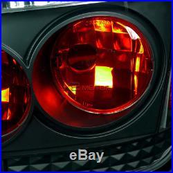 05-10 Scion tC Black LED Halo Projector Headlights+Rear Tail Lamps