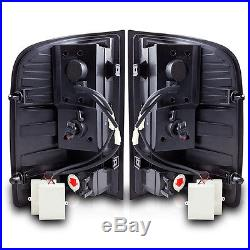 07-12 Chevy Silverado Black/Smoke LED Tail Lights Pair
