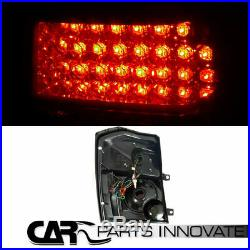 07-12 Dodge Caliber Black Halo LED Projector Headlights+Smoke LED Tail Lamp