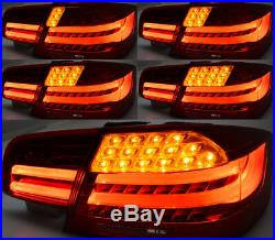 07-13 BMW E92 LCI Coupe Facelift Style Sequential LED Taillights Dark Cherry