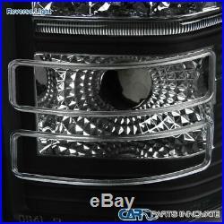 07-13 Chevy Silverado 1500 07-14 2500HD 3500HD Black LED Brake Tail Lights Lamps
