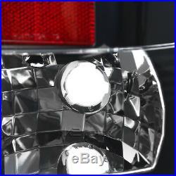 07-13 GMC Sierra 1500 25/3500HD LED Black Halo Projector Headlights+Tail Lamps