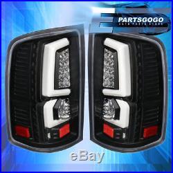07-13 Gmc Sierra 1500 C-Streak New Generation Led Brake Tail Lights Black Clear
