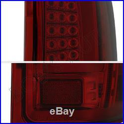 07-13 Silverado 1500 2500 3500 Red Smoke LED Newest C Streak LED Tail Lights