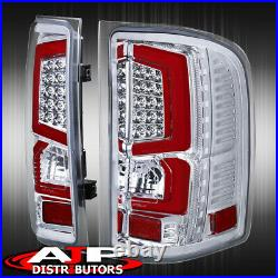 07-13 Silverado 1500 Direct Replacement LED Brake Tail Lights Lamps Pair Chrome