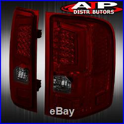 07-13 Silverado 1500 Direct Replacement LED Brake Tail Lights Lamps Smoked Red