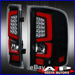 07-13 Silverado 1500 Direct Replacement Led Brake Tail Lights Lamps Pair Black