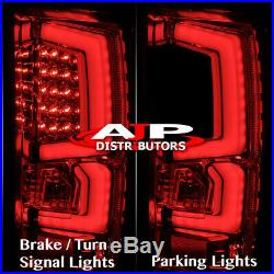 07-13 Silverado 1500 Direct Replacement Led Brake Tail Lights Lamps Pair Smoked