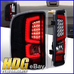 07-13 Silverado 1500 New Generation Led Red C-Streak Tail Lights Black Housing
