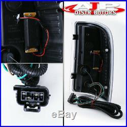 07-13 Silverado 2500 Direct Replacement Led Brake Tail Lights Lamps Pair Black