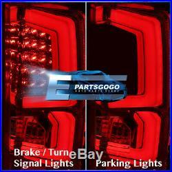 07-13 Silverado C-Steak New Generation Led Brake Stop Tail Lights Lamps Red Lens