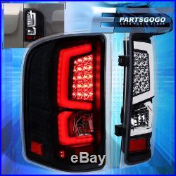 07-13 Silverado C-Streak New Generation Led Brake Stop Tail Lights Lamps Black