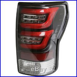 07-13 Toyota Tundra LED Taillights Clear Lens/Black Housing/ Red Light Bar