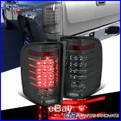 07-14 Chevy Silverado 1500 2500 3500 Pickup Smoke LED Tail Lights Rear Lamps