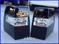 07-17 Expedition Smoked Tail Lights CUSTOM OE Black Tinted Non led painted