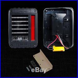 07-17 Jeep Wrangler JK LED Tail Lights Brake Reverse Turn Signal Rear Lamps SAE