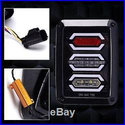 07-17 Jeep Wrangler LED Tail Light JK Rear Brake Reverse Turn Signal Lamp 2Pcs