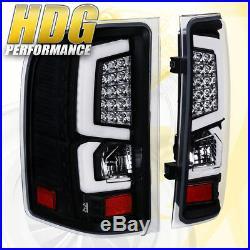 07-2013 Silverado 1500 New Generation Replacement Led C-Streak Tail Lights Black