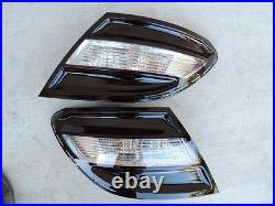 08-11 C300 C350 Smoked Tail lights Black Tinted non led W204 OEM Mercedes