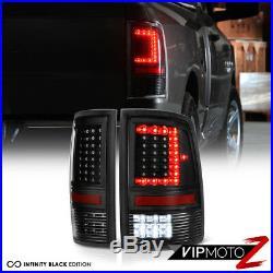 09-14 15-18 Dodge RAM 1500 2500 Black Led Tail Lights Smoked Third Brake PAIR