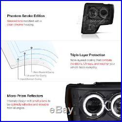 09-14 F150 Truck Smoke HaLo Projector Headlight+LED SMOKED Tail Light Brake Lamp