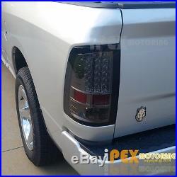 09-16 Dodge Ram 1500/2500/3500 Black-Smoked Headlights + LED Smoke Tail Lights