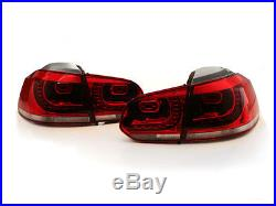 10-14 VW MK6 Golf/GTI R Style LED Taillights Red Cherry