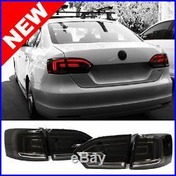 11-14 VW Jetta MK6 Euro Hybrid Style LED Taillights with Rear Fog Smoke