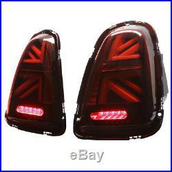 11-15 Helix Mini Cooper R56 R57 R58 R59 LED Union Jack Taillights Dark Red