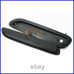 12V 2x Red Lens LED Car Rear Bumper Reflectors Taillight Brake Fog Warning Light