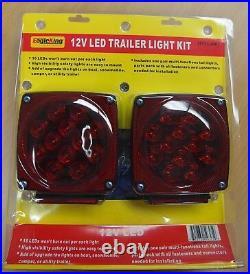 12V LED Trailer Light Kit Multi-Function Tail Lights Submersible DOT