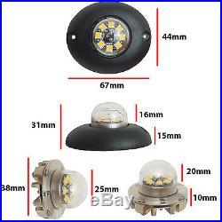 12v 24v Flashing LED HIDE AWAY LIGHTS, Light Bar Recovery Strobe Amber beacon