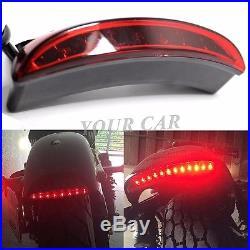 12v Brake Tail Light Led License Plate Motorcycle For Chopper Cafe Racer Clubman