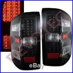 14-18 Chevy Silverado LT LTZ 1500 15-18 2500HD 3500HD LED Tail Lights Black